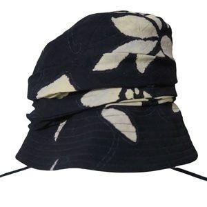 VTG Jams World Black Floral Bucket Hat Vacation Beach Pool USA Vintage